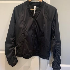 Lululemon sz 8 Black Thin Bomber Jacket-Great Con!